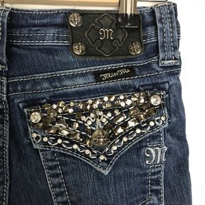 Miss Me Girls Denim Bootcut Jeans Sz 14 JK548982